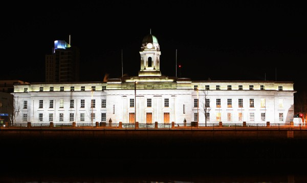City Hall At Night, Cork City